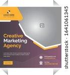 marketing poster for creative... | Shutterstock .eps vector #1641061345