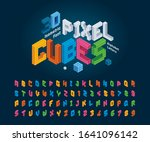 Vector Of Cube Alphabet Letter...