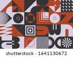brutalism art inspired abstract ... | Shutterstock .eps vector #1641130672