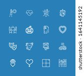 editable 16 emotion icons for... | Shutterstock .eps vector #1641145192