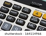Calculator Close Up Shot Focus