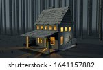 3d Render Of Cabin In The Wood...