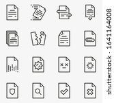 set of documents line black and ... | Shutterstock .eps vector #1641164008