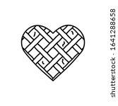 pie  heart icon. simple line ...
