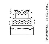cake  mask  carnival icon....