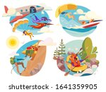 extreme sport  active people... | Shutterstock .eps vector #1641359905