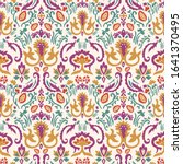 old indian arabesque damask...   Shutterstock .eps vector #1641370495
