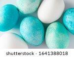 beautiful easter eggs in blue... | Shutterstock . vector #1641388018