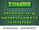 Zombie Halloween Text Style...