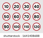 speed limit road sign set with...   Shutterstock .eps vector #1641408688