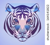 tiger. hipster style. vector  | Shutterstock .eps vector #164141822