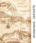 handwritten ancient map of... | Shutterstock . vector #16414270