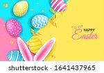 happy easter. celebration.... | Shutterstock .eps vector #1641437965