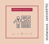 presentation sign icon. man...   Shutterstock .eps vector #1641439792