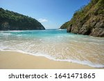 Beautiful Beach. With Clear...