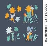 cartoon vector illustration of... | Shutterstock .eps vector #1641473002