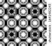 abstract geometric octagononal... | Shutterstock .eps vector #1641482245