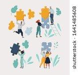 set of cartoon vector... | Shutterstock .eps vector #1641485608