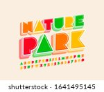vector colorful logo nature... | Shutterstock .eps vector #1641495145