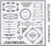 design elements set  decorative ... | Shutterstock .eps vector #1641547702