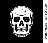 space skull white black...   Shutterstock .eps vector #1641557605