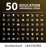 50 education icons. | Shutterstock .eps vector #164156582