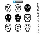 skull icon or logo isolated... | Shutterstock .eps vector #1641596278