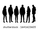 vector silhouettes of  men and... | Shutterstock .eps vector #1641623605