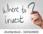 where to invest hand writing... | Shutterstock . vector #164163602