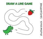 cartoon dinosaur game for small ... | Shutterstock . vector #1641649948