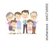 cartoon happy family on white... | Shutterstock .eps vector #1641710452
