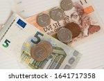 Euro And Czech Crowns Koruna...