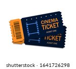 ticket of cinema for movie....   Shutterstock .eps vector #1641726298