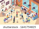 interior view on people working ... | Shutterstock .eps vector #1641754825