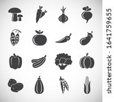 vegetable related icons set on... | Shutterstock .eps vector #1641759655