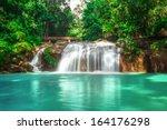 Waterfall At Mae Sa Waterfall...