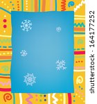 template with frame and snow... | Shutterstock .eps vector #164177252