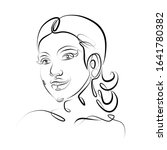 one continuous single drawn...   Shutterstock . vector #1641780382