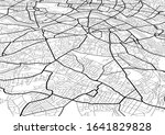 vector flat abstract city map... | Shutterstock .eps vector #1641829828