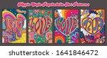 hippie style psychedelic art... | Shutterstock .eps vector #1641846472