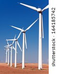 windmills for electric power... | Shutterstock . vector #164185742