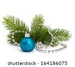 christmas ball decoration... | Shutterstock . vector #164186075