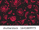 elegant seamless pattern with... | Shutterstock .eps vector #1641889975