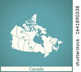 vector map of the canada | Shutterstock .eps vector #1641890338