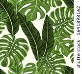 seamless tropical pattern with... | Shutterstock .eps vector #1641898162