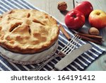 Homemade Apple Pie With Fresh...