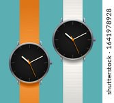 couple modern classic watches... | Shutterstock .eps vector #1641978928