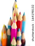 colour pencils isolated on... | Shutterstock . vector #164198132