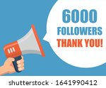 6000 followers thank you   male ... | Shutterstock .eps vector #1641990412