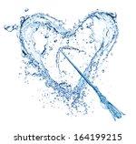 Water splash heart  isolated on ...